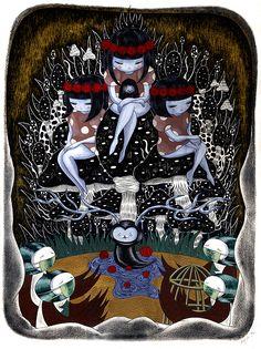 """Paintings from """"24th season"""" by Aya Kakeda http://www.inspirefirst.com/2013/09/19/paintings-24th-season-aya-kakeda/"""