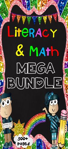 BIG SAVINGS - 500+ pages - Literacy & Math Center Mega Bundle Pack. It includes 20 engaging and fun products combined into one. These literacy & math center activities are ideal for literacy centers, math centers or Daily 5 for lower primary students.There are a variety of writing, spelling, task cards, reading comprehension, vocabulary, character trait activities, number & pattern activities and independent contract work included in this pack.