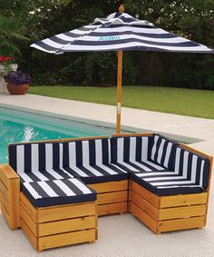 Easy to make with crates and sewing cushions