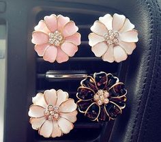 2pcs Crystal Flower Handmade Car vent clip, car air freshener, car interior, car accessory, car Decorations by AlonmyCrystalCrafts on Etsy https://www.etsy.com/listing/288913995/2pcs-crystal-flower-handmade-car-vent