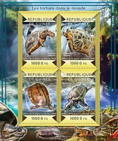 Guinea GU 15125 a  Turtles of the World (Chelonoidis carbonaria, {…}, Macrochelys temminckii)