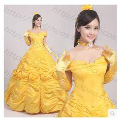 Belle trajes de Cosplay de la película la bella y la bestia Cosplay vestidos(China (Mainland))