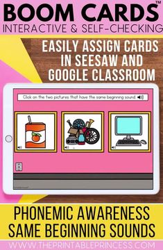 Add these interactive and self-checking boom cards to your literacy centers or assign them in Google Classroom and Seesaw! Students will enjoy playing the games and mastering their literacy skills using technology! You will love how easy it is to assign and record data!