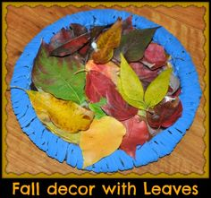 Fall Decor with Leaves