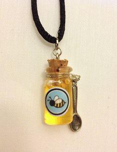 Classic Bottle of Honey Glass Bottle Pendant/Charm   Available here on Etsy: https://www.etsy.com/listing/115192888/classic-honey-glass-bottle-charm?ref=v1_other_2