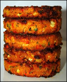 Crispy and super flavorful. So yes, these are as delicious as they look. They are really easy to make, and can be frozen, too. Eat t. Tasty Vegetarian Recipes, Vegetable Recipes, Healthy Recipes, Whole Food Recipes, Cooking Recipes, Mediterranean Diet Recipes, Vegan Dinners, Vegetable Dishes, Meals