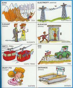 Learning Italian Language ~ Parole Inglesi Per Piccoli e Grandi - #Illustrated #dictionary - E2