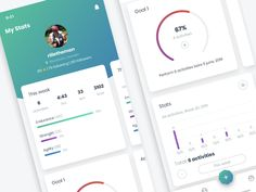 MoveStreak - My Stats by Richard Wålander on Dribbble Saint Charles, Show And Tell, Apps, Training, Design, Work Outs, App, Excercise