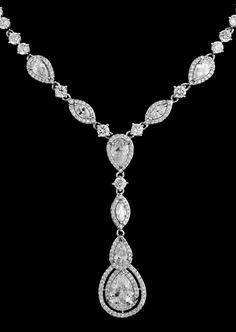 Vintage Look CZ Crystal Drop Bridal Jewelry Set--Affordable Elegance Bridal -