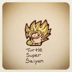 Turtle Super Saiyan #turtleadayjuly - @turtlewayne- #webstagram