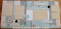 "(view 2 of 2)... VERSATILE LAYOUTS by Dana Kessler using CTMH Frosted paper.... 2 pins... exact same pages, just switched!... (see ""view 1 of 2"" on this board)"