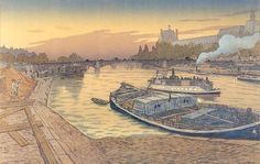Henri Rivière (1864 -1951) French artist and designer Henri Rivière is known for his post-Impressionist illustrations of Breton landscapes and the Eiffel Tower.