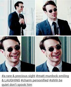 Matt Murdock. / Too pure for this world, too good. // Daredevil. -