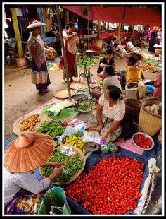 Food Market, Burma