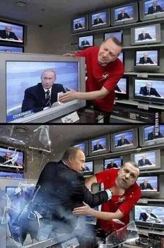 Don't Mess With Putin by needo - A Member of the Internet's Largest Humor Community Memes Humor, Top Memes, Funny Jokes, Funny Shit, Best Funny Images, Funny Photos, Saint Yves, Putin Funny, French Meme