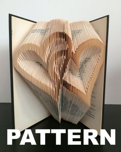 Book Folding Pattern Interlocking Hearts by BookFoldingAustralia