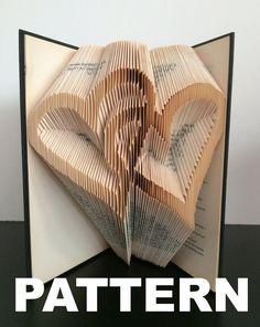 Book Folding Pattern Interlocking Hearts by BookFoldingAustralia