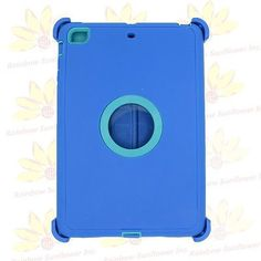 Blue teal Shockproof Defender rugged Protective Case For iPad Mini 1/2/3 b1