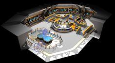 Federation Carrier Starship USS Valkyrie Bridge 3 by calamitySi.deviantart.com on @DeviantArt