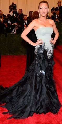 Met Gala 2013 - Blake Lively in Gucci. Not totally in love with this dress, but Blake still kills it