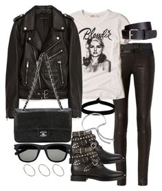 """Untitled #2852"" by theeuropeancloset on Polyvore featuring rag & bone, Hollister Co., Jakke, Yves Saint Laurent, Chanel, ASOS, H&M, The Flexx and Monica Vinader"