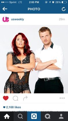 Can we talk about this close up that @usweekly posted though! @SharnaBurgess and @nickcarter are killing it!!