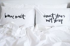 bonne nuit pillow case // by jasmine dowling