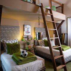 Kids Kids room Design Ideas. So cute. I would love to make the top a play area for some toys. Then the room looks clean.lol
