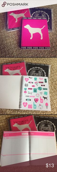 Pink planners good through July 2017 New !! I am selling 3 pink planners new with stickers still attached !  Selling each for 13.00 or can set up a bundle deal .  Specify design / color PINK Victoria's Secret Accessories