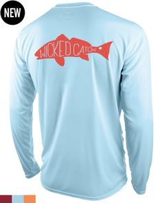 Wicked Catch Slot Redfish performance fishing shirts are bold, unique, UPF 50, lightweight, comfortable, affordable fishing shirts for anglers everywhere.