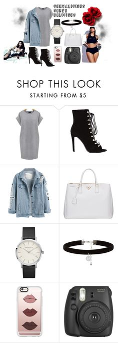 """CURVES HUN"" by pinkyistorie ❤ liked on Polyvore featuring Prada, New Look, Casetify, Fujifilm, Ashley Graham and plus size dresses"