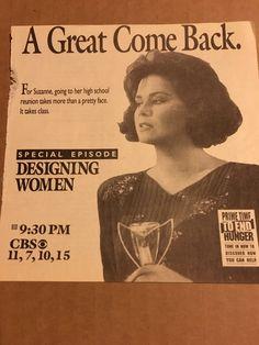 Delta Burke Designing Women Gerald Mcraney, Dixie Carter, Annie Potts, Jean Smart, Delta Burke, School Reunion, Prime Time, That's Entertainment, Pretty Face