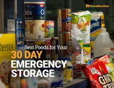 With these tips on what foods to stockpile for your 30 Day Emergency Storage, disaster preparedness will be easy. Get started now. Prepper Food, Survival Food, Survival Prepping, Survival Skills, Survival Stuff, Urban Survival, Survival Shelter, Wilderness Survival, Survival Fishing