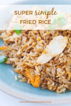 Super simple fried rice recipe. #dinner #easy #recipe #food