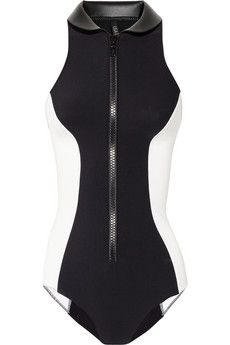 Lisa Marie Fernandez|The Daphne Maillot high-neck swimsuit|NET-A-PORTER.COM - StyleSays
