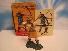 MARX WARRIORS OF THE WORLD PLAYSET HAAKON VIKING KNIGHT 60mm PLASTIC TOY SOLDIER #MARX