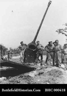 gustav-line-German 88mm anti-tank gun in Monte Cassino 1944