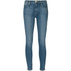 FRAME Denim Le High Skinny Jeans (480 BRL) ❤ liked on Polyvore featuring jeans, pants, bottoms, skinny jeans, kirna zabete, sale, denim skinny jeans, blue skinny jeans, frame jeans and skinny fit denim jeans