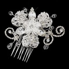 Samantha Crystal and Rhinestone Accenting Wedding Bridal Occasion Comb >>> Click image for more details.