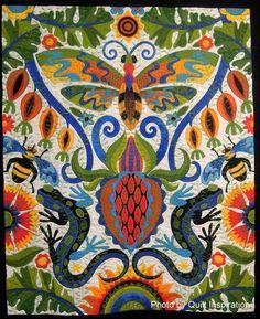 Inspiration Quilt: courtepointes primés du Festival International de Houston Quilt Fabric Art, Fabric Design, Cotton Fabric, International Quilt Festival, Houston, Butterfly Quilt, Contemporary Quilts, Quilt Bedding, Applique Quilts