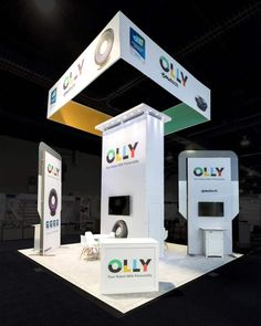 A simple #booth design with impactful branding - By Exponents for Emotech @ CES, Las Vegas  #tradeshows #eventprofs