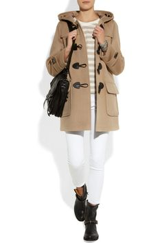 Burberry Brit | Wool-felt duffle coat    $995