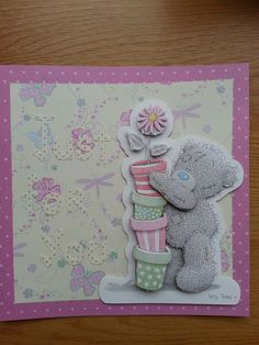 Just for you me to you card Tatty Teddy, You And I, Mothers, Bears, Arts And Crafts, Easter, Female, You And Me, Easter Activities