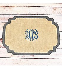 Frame Shaped Natural and Gray Burlap Placemat #38985