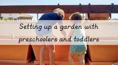 Montando un huerto urbano con niños pequeños - Setting up a garden with preschoolers and toddlers • Montessori en Casa