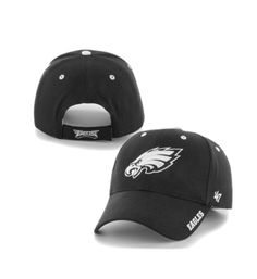 Mens  47 Brand Black Philadelphia Eagles Frost Structured Adjustable Hat a3bee6d9f