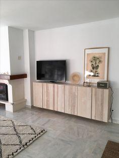 Sideboard in Livingroom, Las Adelfas. Ikea Interior, Interior Design, Home Living, Living Room Decor, Ivar Regal, Ikea Tv Stand, Ikea Units, Living Room Tv Unit Designs, Apartment Design