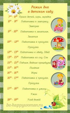 режим дня ребенка 3 лет в картинках: 16 тыс изображений найдено в Яндекс.Картинках