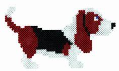Pet. Mascota. Dog. Perro. Perler veads, Hama beads, bead sprites, nabbi fuse melty beads. Pixel art