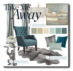 """""""Icy Blue"""" by fortyandlovingit ❤ liked on Polyvore featuring interior, interiors, interior design, home, home decor, interior decorating, Benson-Cobb Studios, Diane James, homedecor and polyvoreeditorial"""